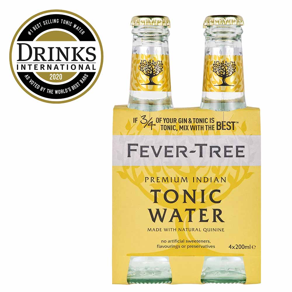 Fevertree Indian Tonic Water Mixer 4 x 200ml - The Whisky Shop Singapore