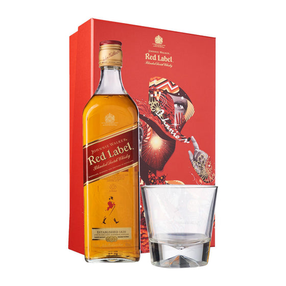 Johnnie Walker Red Label Gift Set with a Glass - The Whisky Shop Singapore