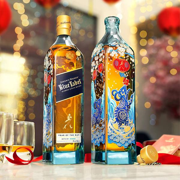 Johnnie Walker Blue Label Year of the Rat (Limited Edition Design) 750ml - The Whisky Shop Singapore
