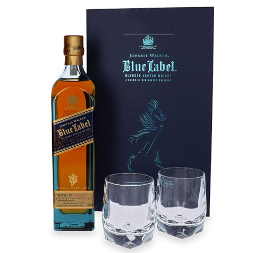 Johnnie Walker Blue Label Crystal Pack (Limited Edition Design Gift Set - Free 2 Glasses) - The Whisky Shop Singapore