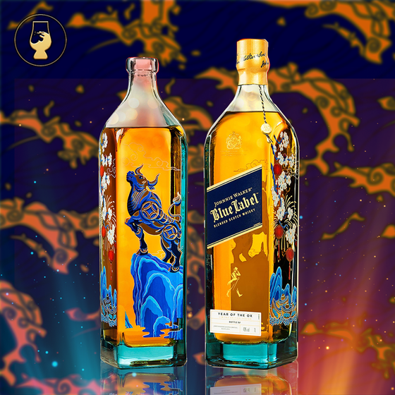 Johnnie Walker Blue Label Year of the Ox (Limited Edition Design) 750ml FREE 3 Can Baby Abalone