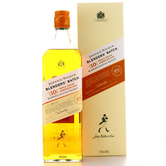 Johnnie Walker Blenders Batch 10 Years Old Triple Grain American Oak Blended Scotch Whisky 75cl - The Whisky Shop Singapore
