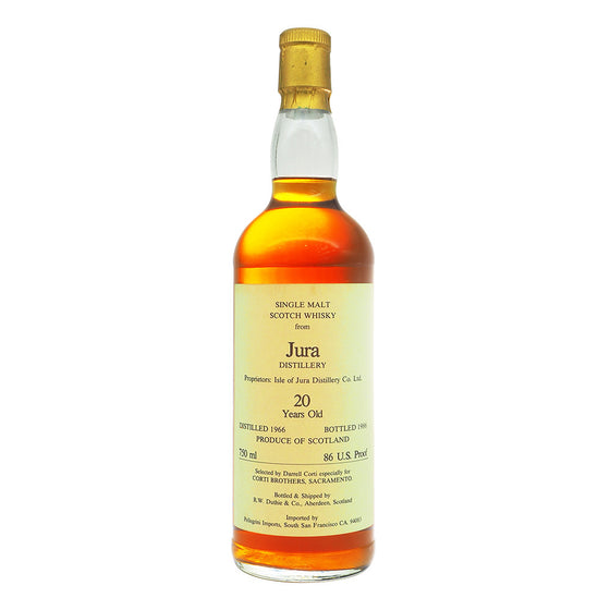Jura 1966 20 Years Duthie - Corti Brothers - The Whisky Shop Singapore
