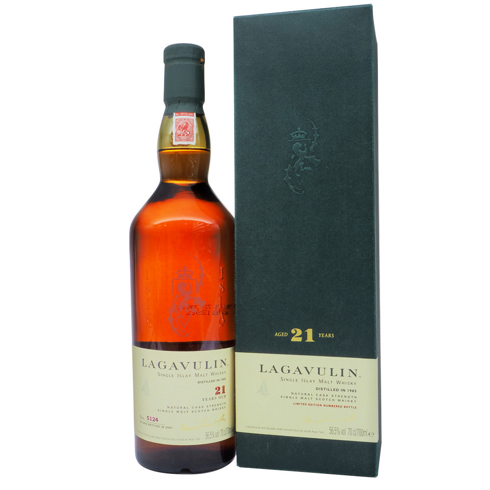 Lagavulin 1985 21 Years Bot. 2007 Serge's Favourite Lagavulin - Bottle No. 5124 - The Whisky Shop Singapore