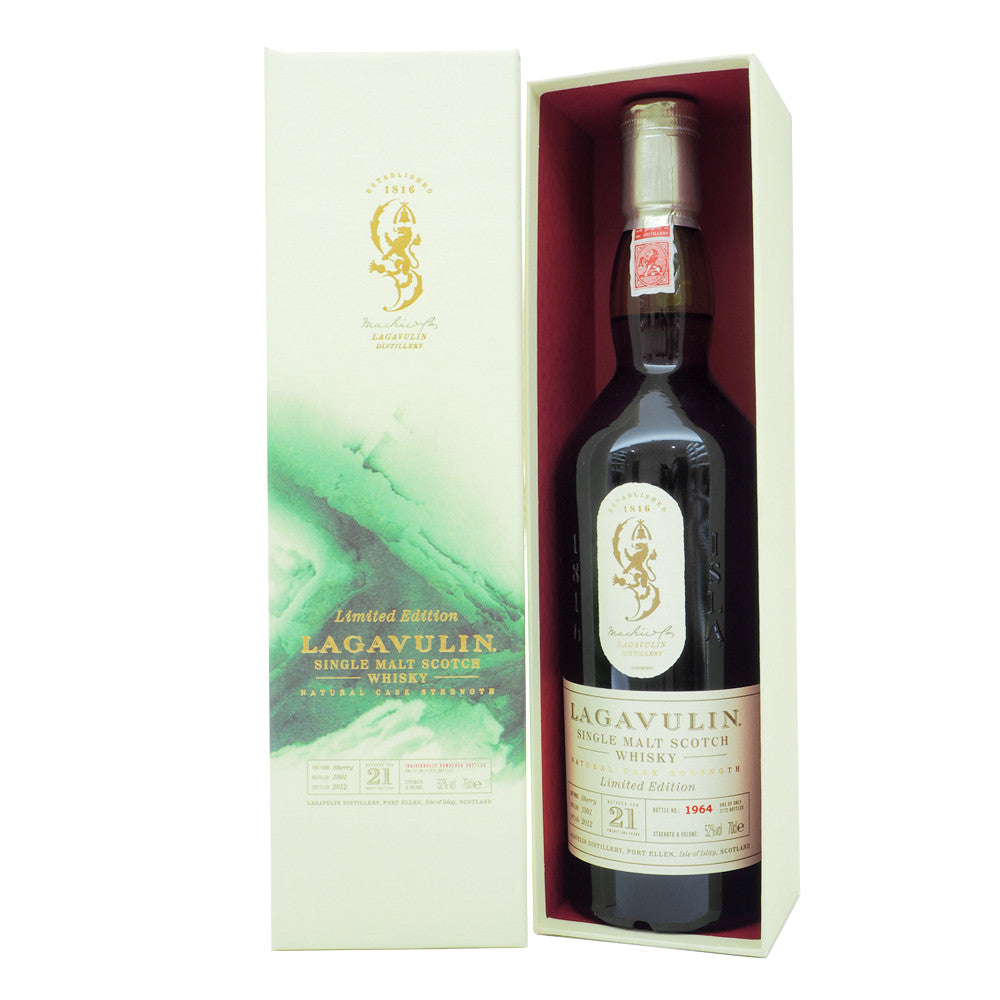 Lagavulin 1991 21 Years (Bot. 2012) #1964 - The Whisky Shop Singapore