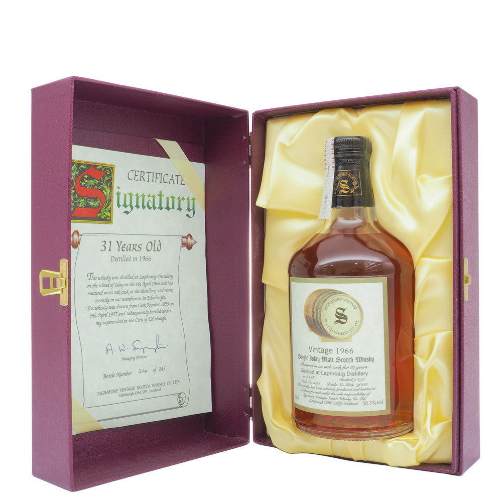 Laphroaig 1966 31 Years Signatory Vintage Cask 1093 - The Whisky Shop Singapore