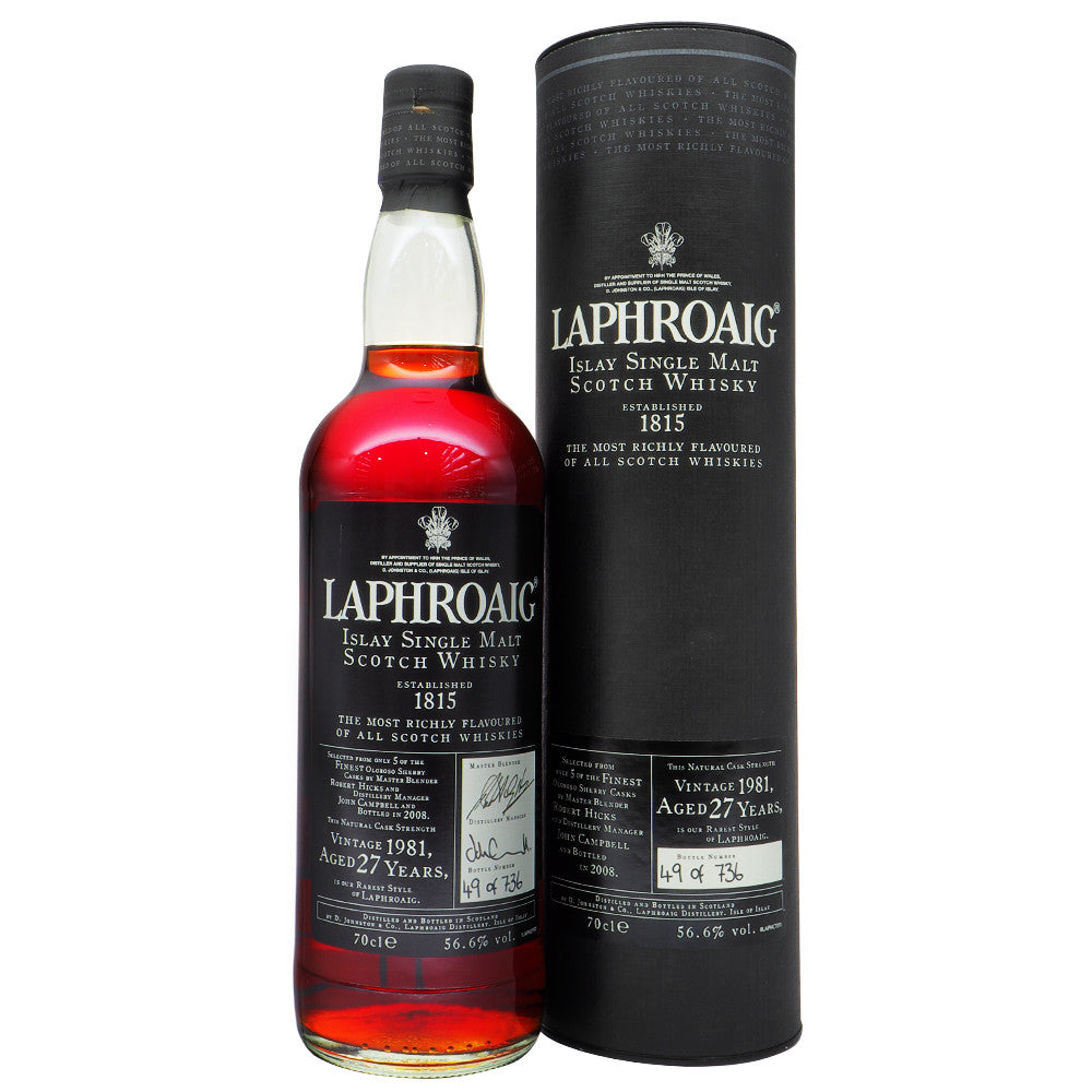 Laphroaig 1981 27 Years - Bottle No. 49 - The Whisky Shop Singapore