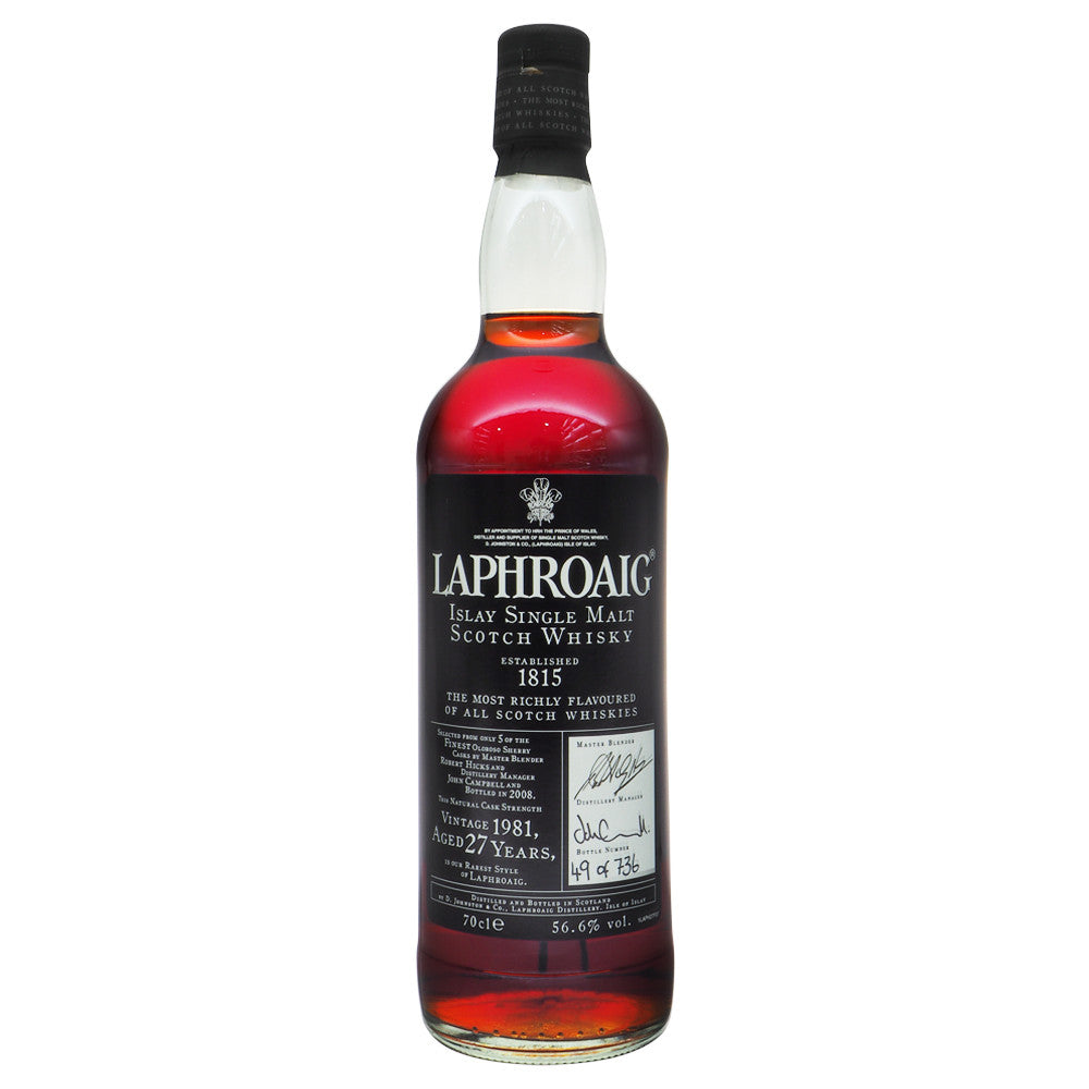 Laphroaig 1981 27 Years #49 - The Whisky Shop Singapore