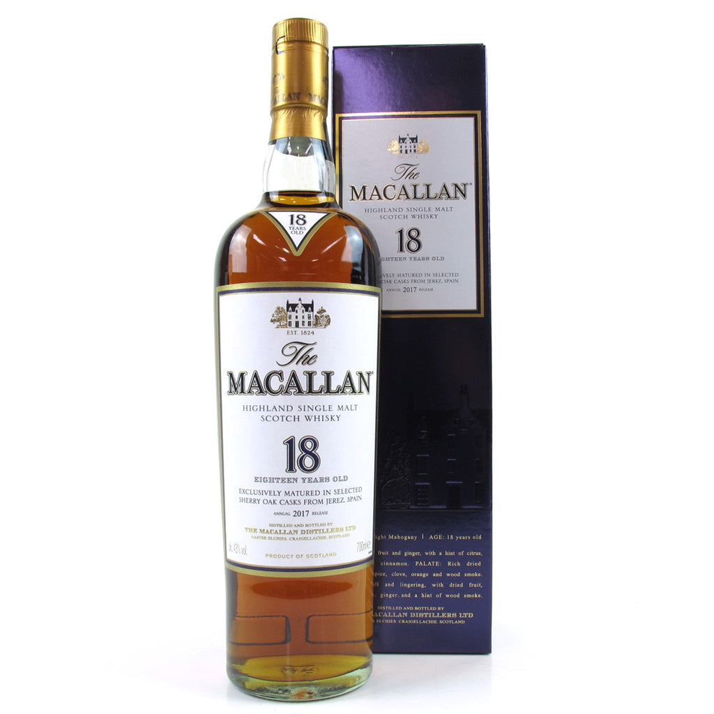 Macallan 18 Years Sherry Oak - 2017 Annual Release - The Whisky Shop Singapore