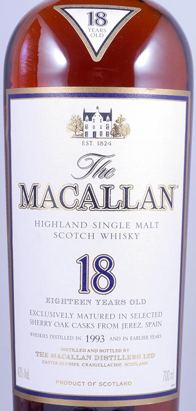 Macallan 1993 18 Years Sherry Oak - The Whisky Shop Singapore