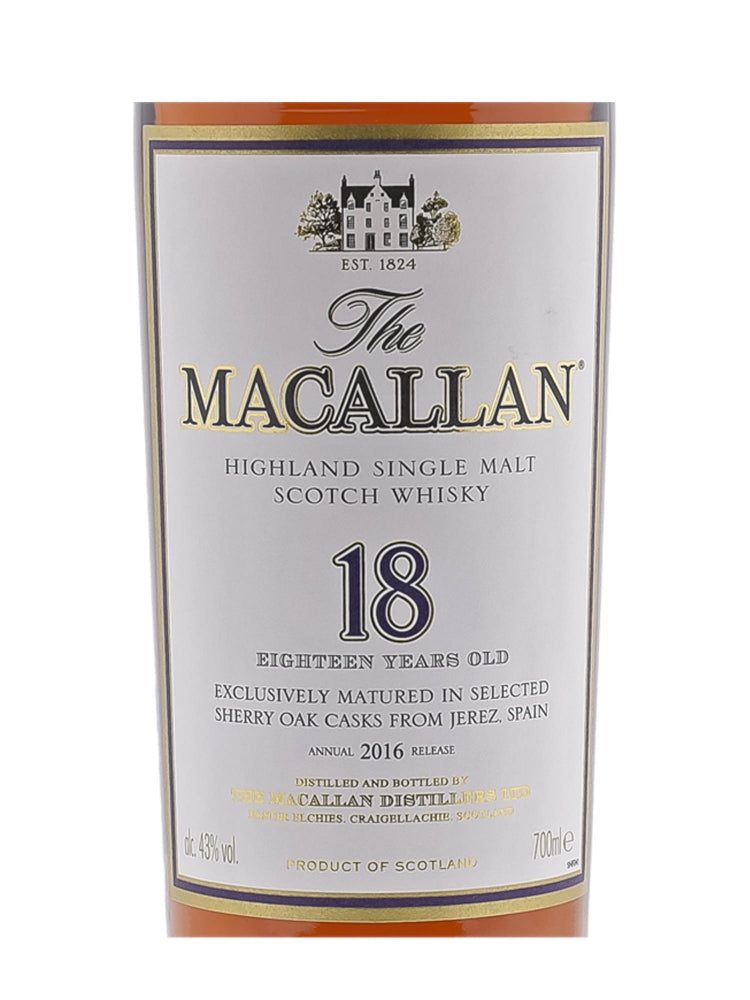 Macallan 1996 18 Years Sherry Oak - The Whisky Shop Singapore