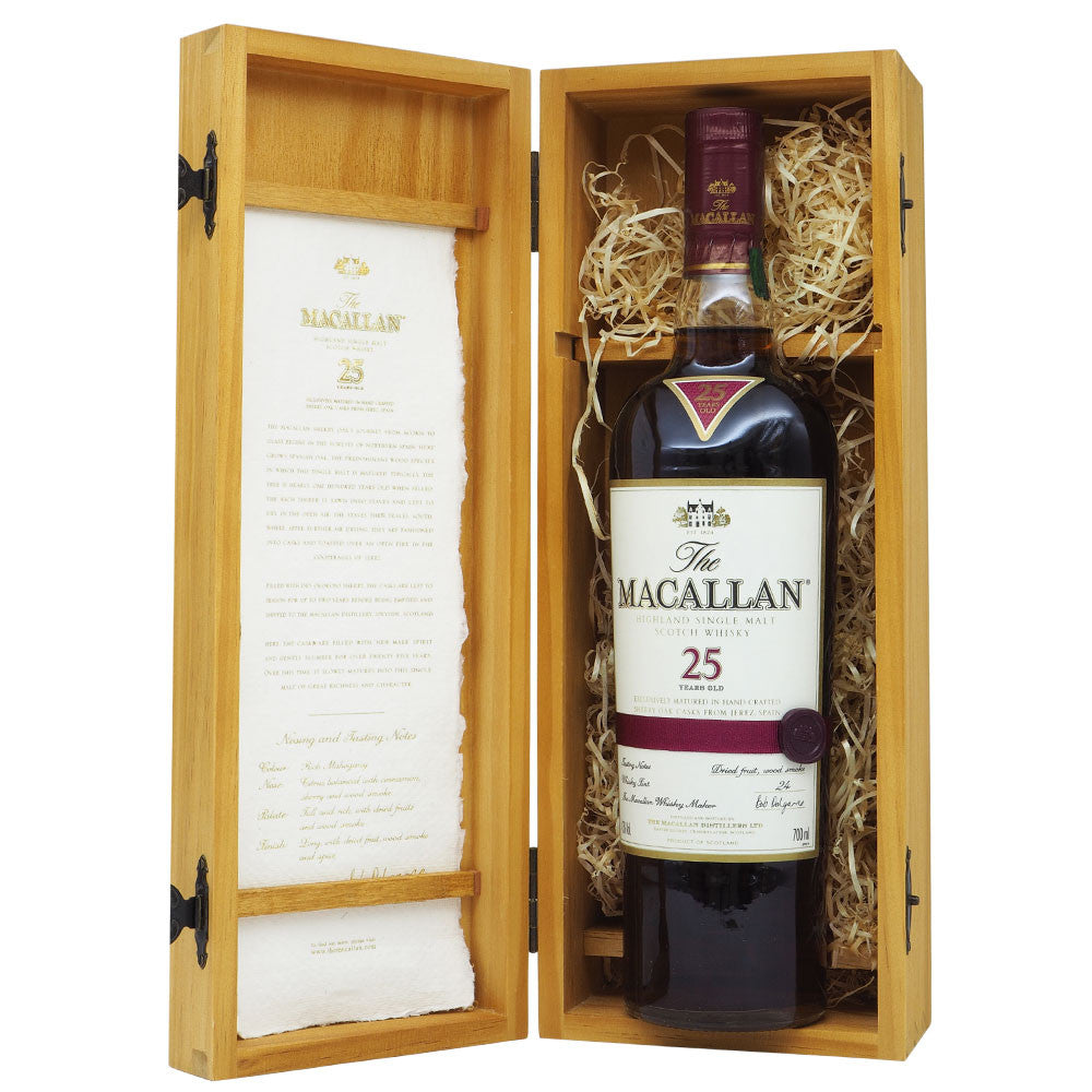 Macallan 25 Years Sherry Oak - The Whisky Shop Singapore