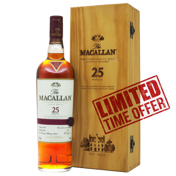 Macallan 25 Years Sherry Oak | The Whisky Shop Singapore