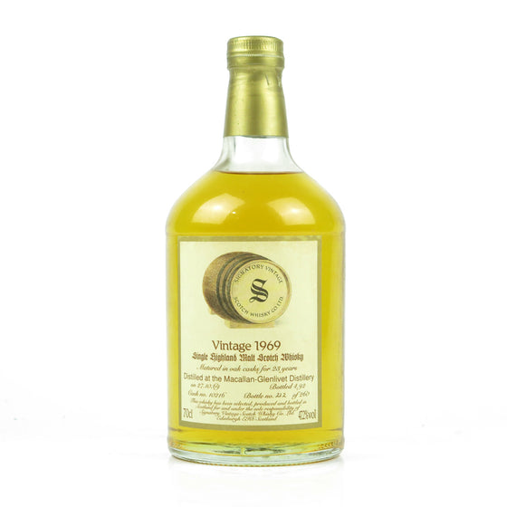 Macallan-Glenlivet 1969 23 Years Signatory Vintage - The Whisky Shop Singapore
