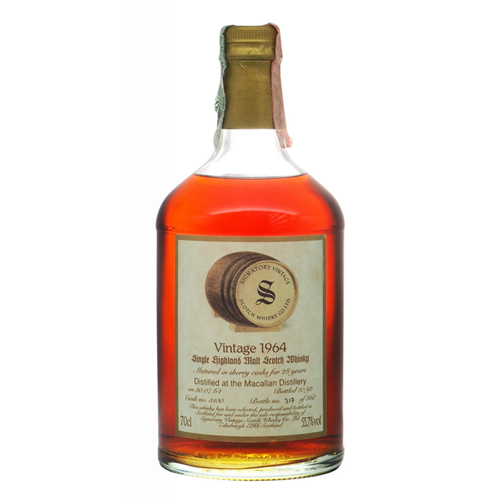 Macallan 1964 28 Years Signatory Vintage - The Whisky Shop Singapore