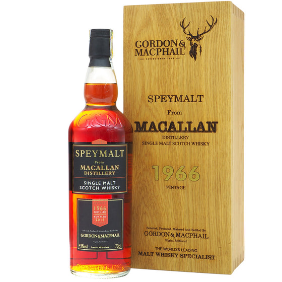Macallan 1966 Gordon & MacPhail Speymalt Bot. 2015 - The Whisky Shop Singapore
