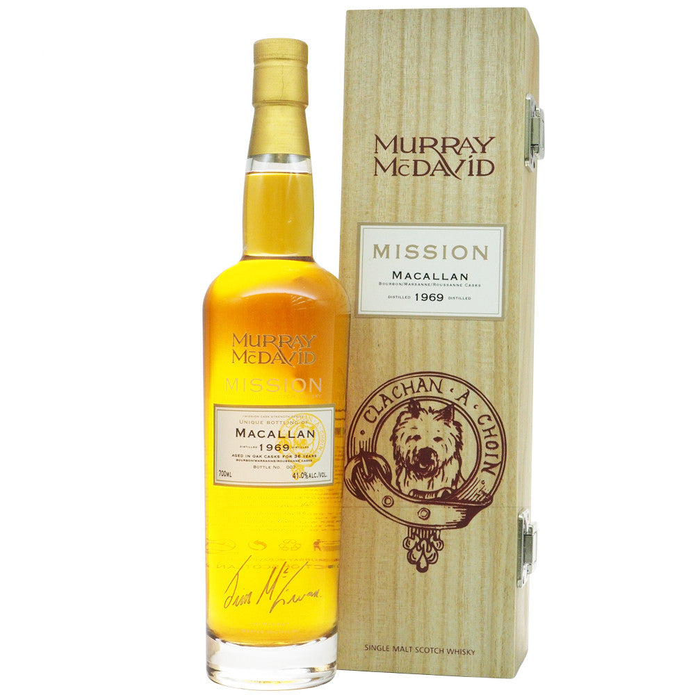 Macallan 1969 36 Years Murray McDavid - Mission Series - The Whisky Shop Singapore