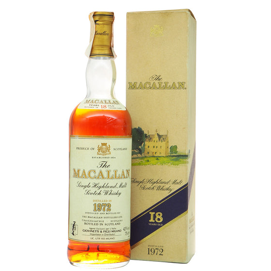 Macallan 1972 18 Years - Giovinetti - The Whisky Shop Singapore