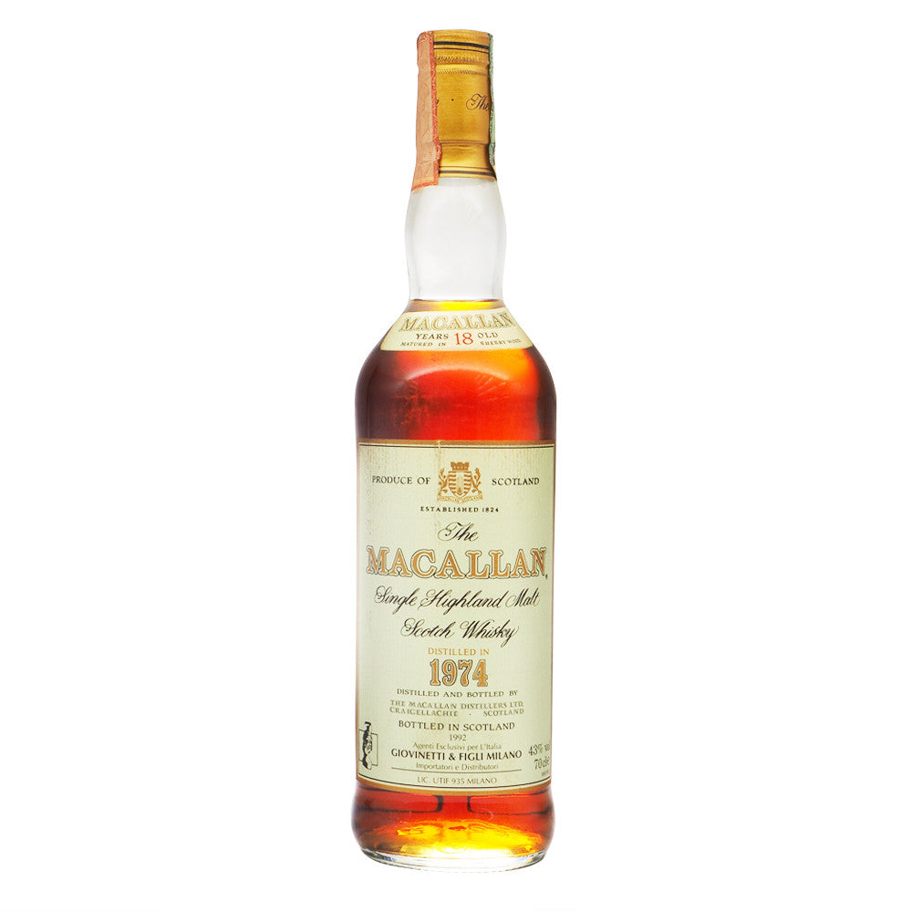 Macallan 1974 18 Years - Giovinetti - The Whisky Shop Singapore