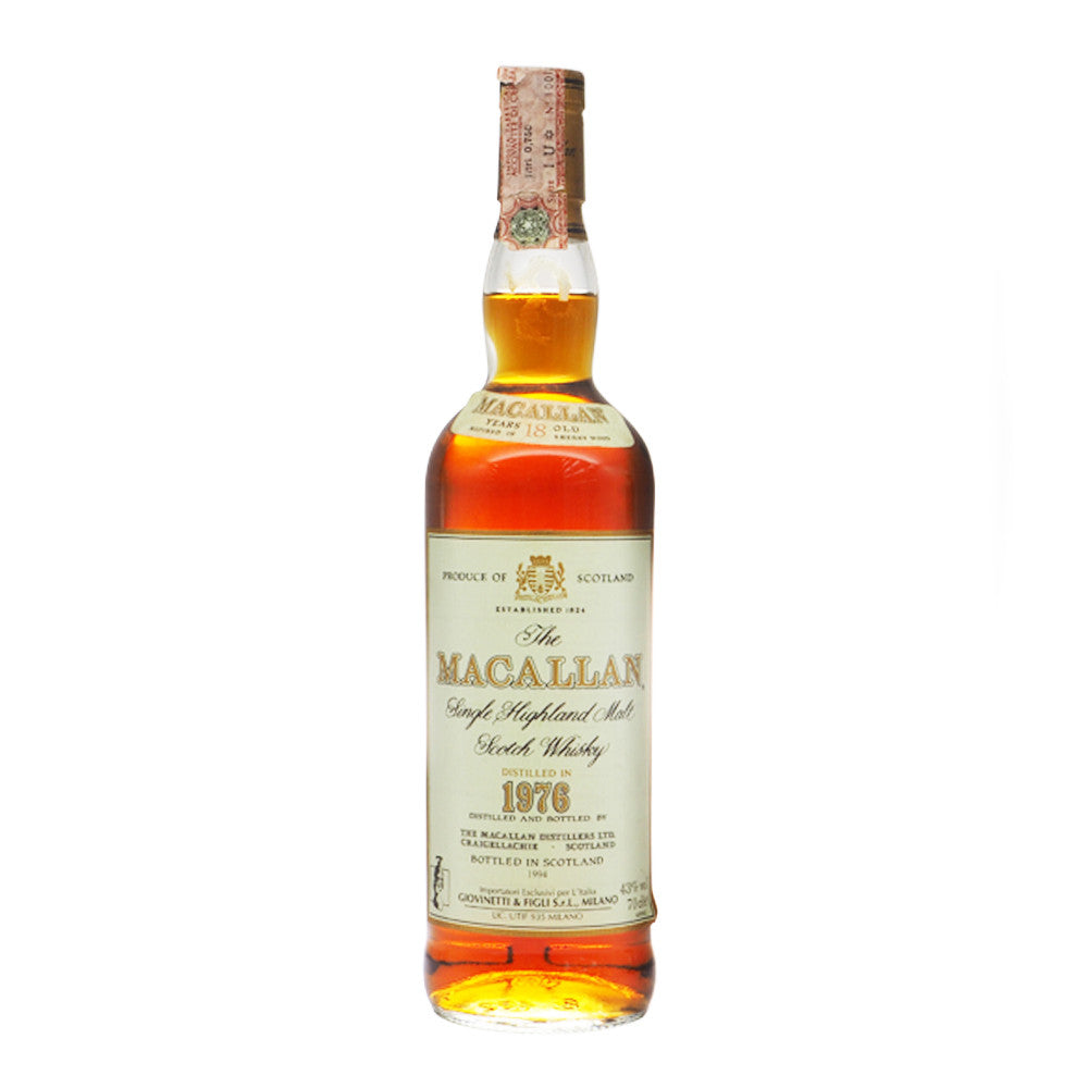Macallan 1976 18 Years - Giovinetti - The Whisky Shop Singapore