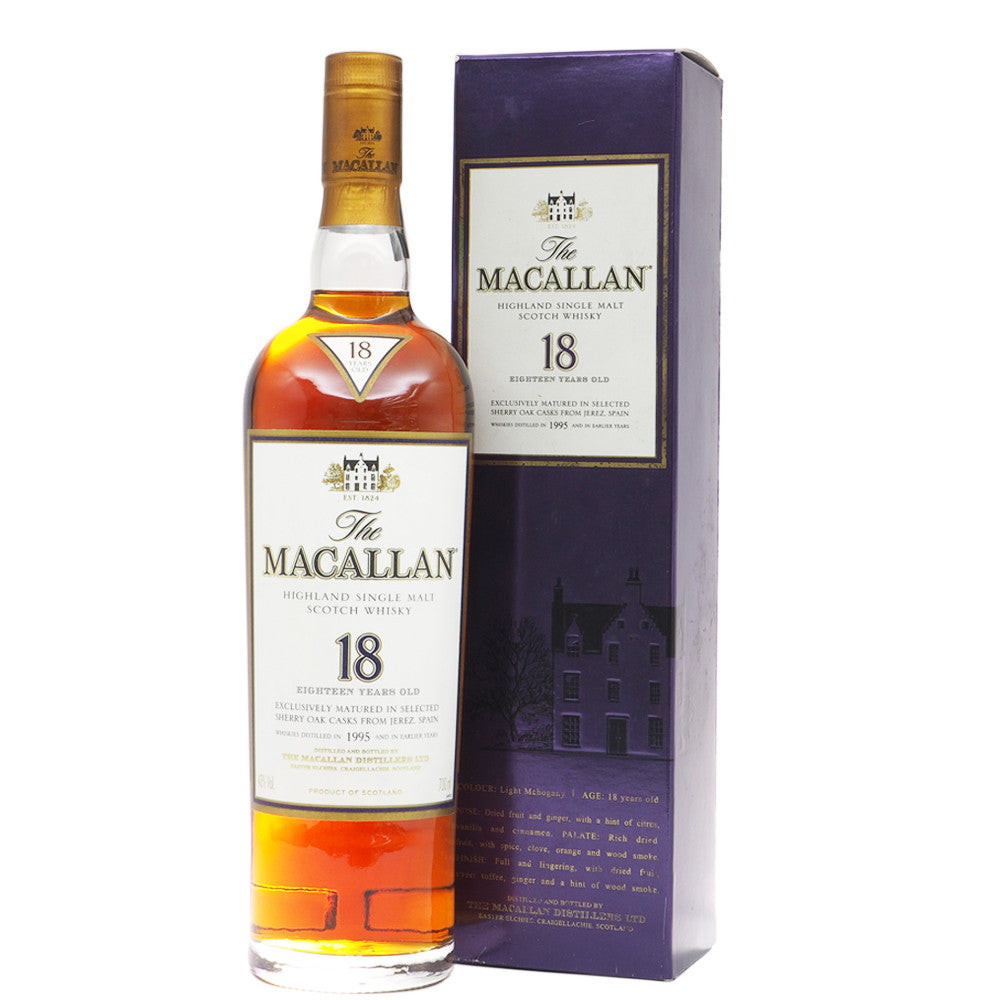 Macallan 1995 18 Years Sherry Oak - The Whisky Shop Singapore