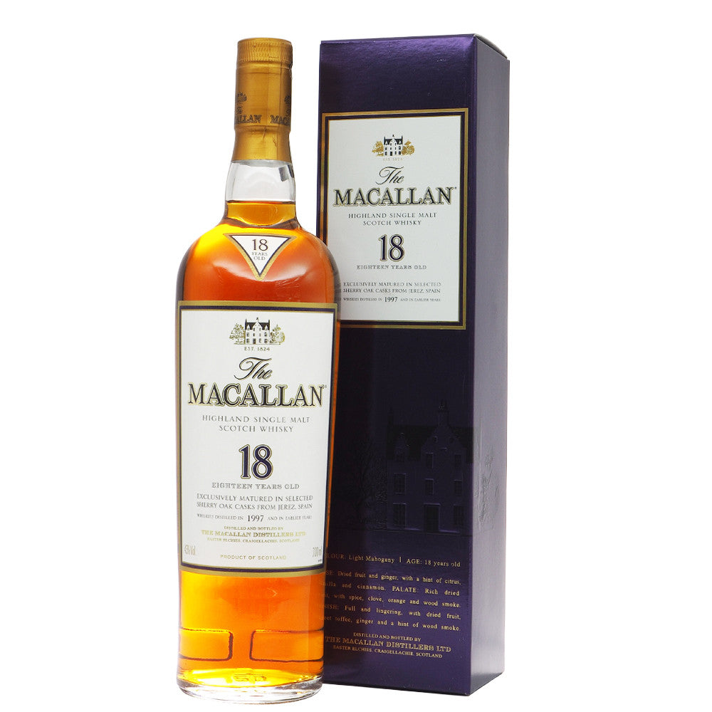Macallan 1997 18 Years Sherry Oak - The Whisky Shop Singapore