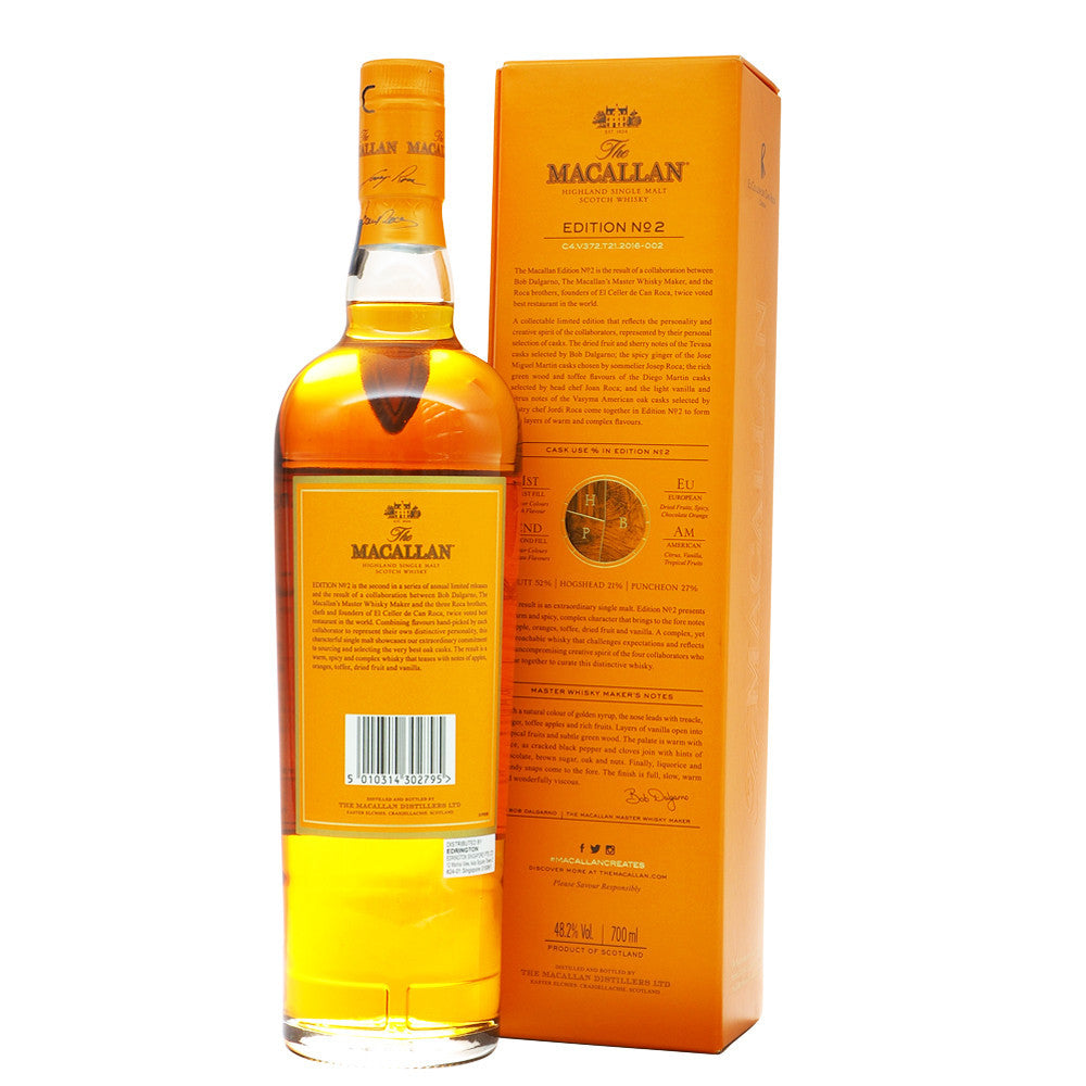 Macallan Edition No. 2 with Free Jim Murray Whisky Bible - The Whisky Shop Singapore