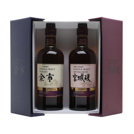 Nikka Yoichi & Miyagikyo Rum Cask Finish Single Malt Whisky