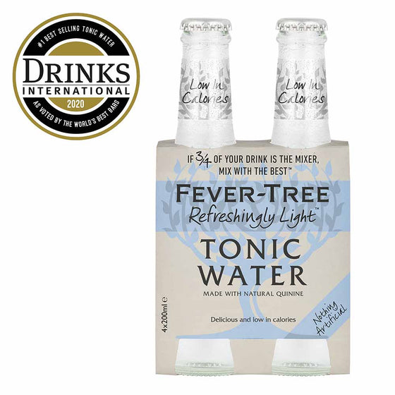 Fevertree Refreshingly Light Mixer 4 x 200ml - The Whisky Shop Singapore