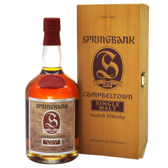 Springbank 25 Years - Dumpy Bottle - The Whisky Shop Singapore