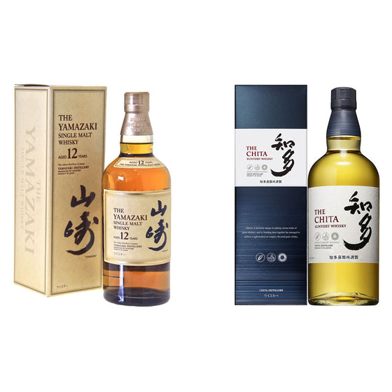 Yamazaki 12 Years + Chita Single Grain - The Whisky Shop Singapore