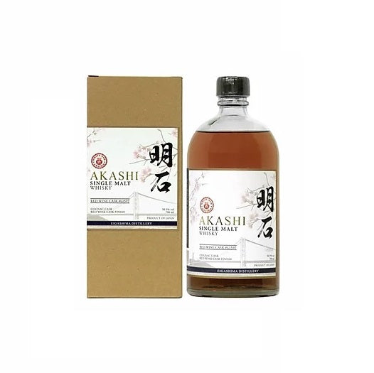 Akashi Red Wine Cask Finish Japanese Whisky 70cl - The Whisky Shop Singapore