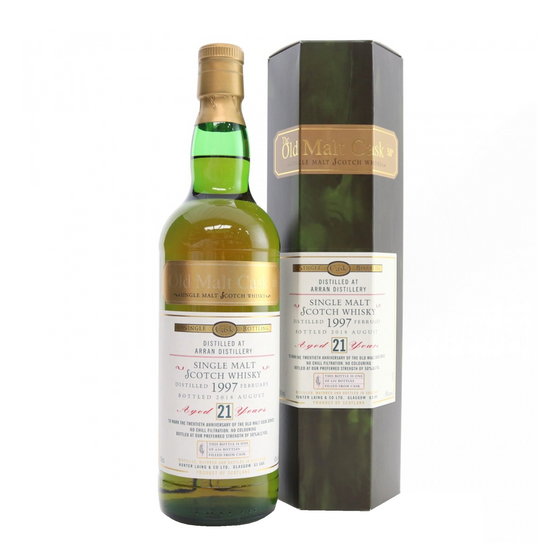 Arran 1997 21 Year Old Hunter Laing / Old Malt Cask 20th Anniversary