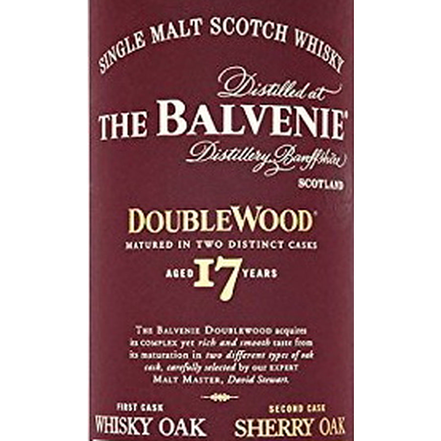 Balvenie 17 Year Double wood - The Whisky Shop Singapore