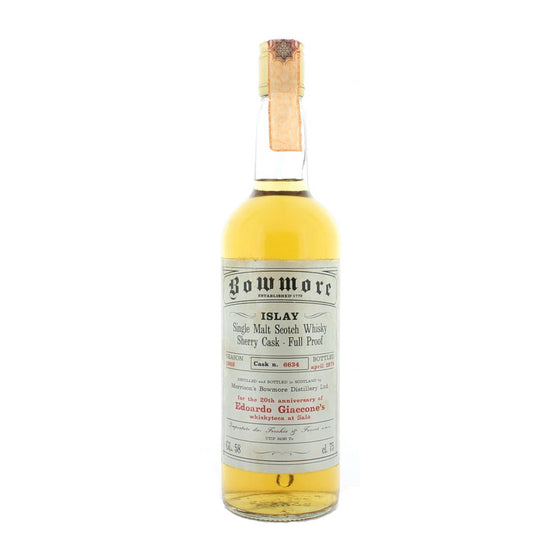 Bowmore 1969 - Cask #6634 for Edoardo Giaccone - The Whisky Shop Singapore