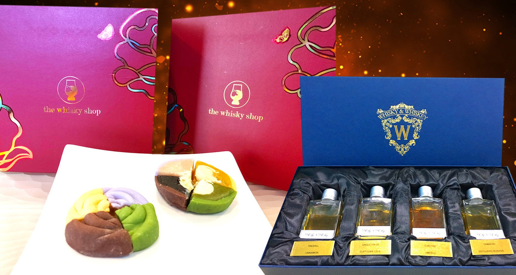 Premium Whisky Snowskin Mooncakes + One Set of Whisky Dram Exclusively by The Whisky Shop