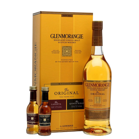 Glenmorangie The Original 10 Years + 5cl Lasanta 12 + 5cl Quinta Ruban 12(The Pioneer Set)