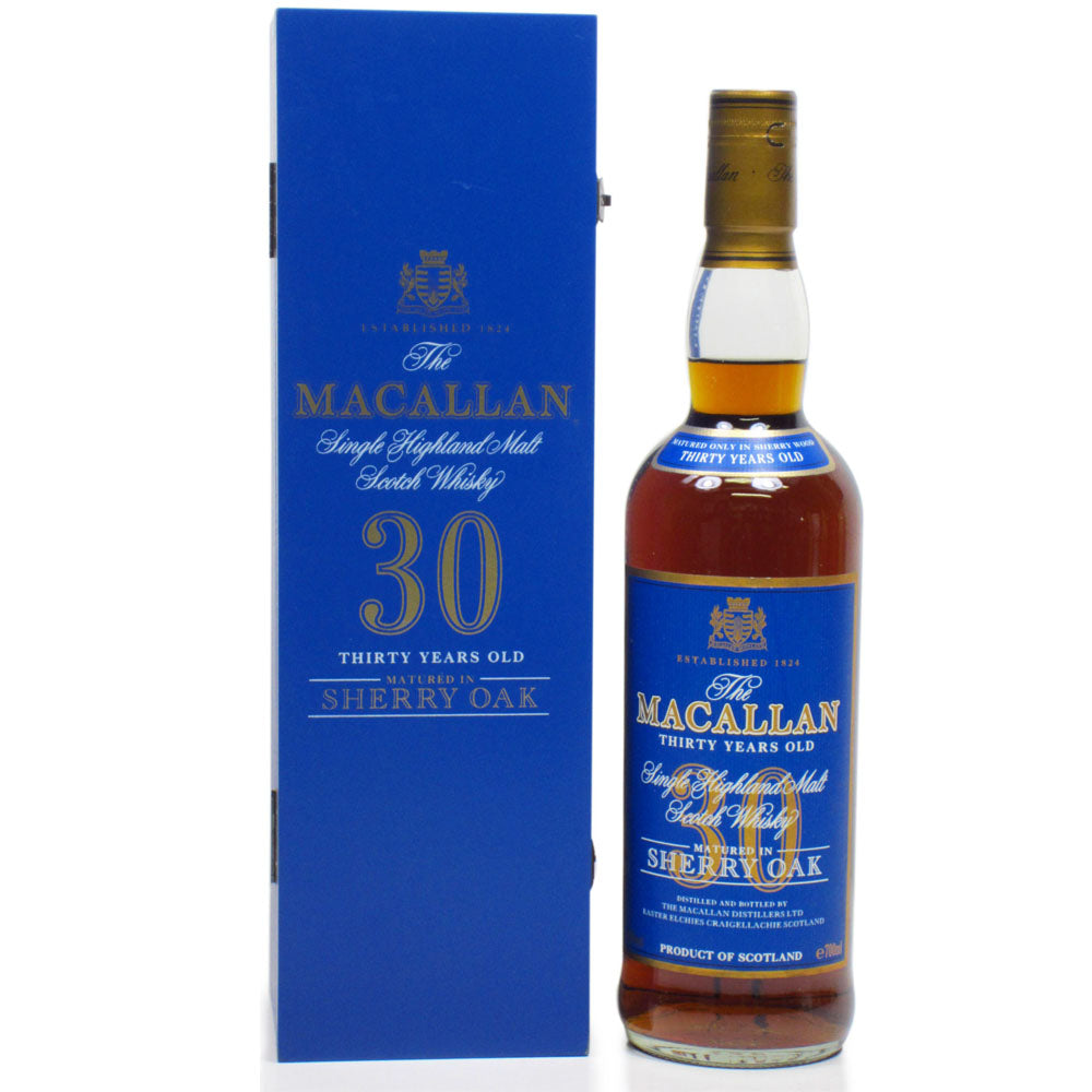 Macallan 30 Years Old Sherry Oak Blue Label - The Whisky Shop Singapore