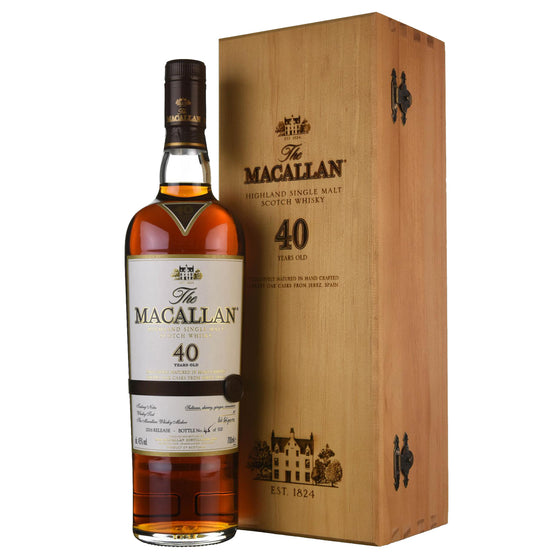 Macallan 40 Years Sherry Oak 2016 Release - The Whisky Shop Singapore