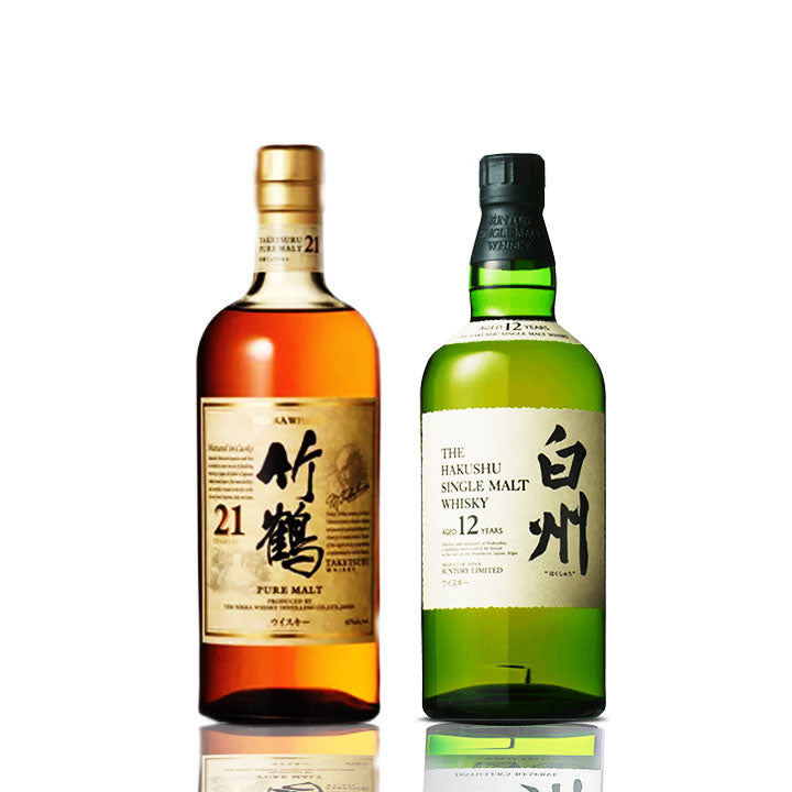 Nikka Taketsuru 21 + Hakushu 12 Bundle - The Whisky Shop Singapore