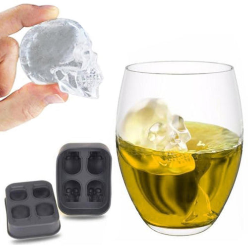 Skull-Shaped Silicone Ice Cube Maker - The Whisky Shop Singapore