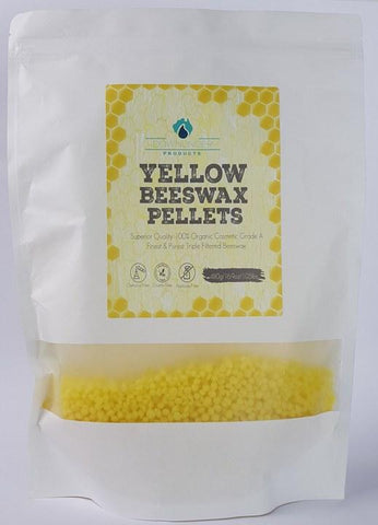 Beeswax Pellets 480g YELLOW - Magnesium_Oil, Downunder_Products