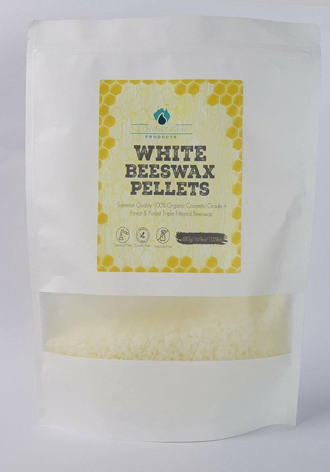 Beeswax Pellets 480g WHITE - Magnesium_Oil, Downunder_Products