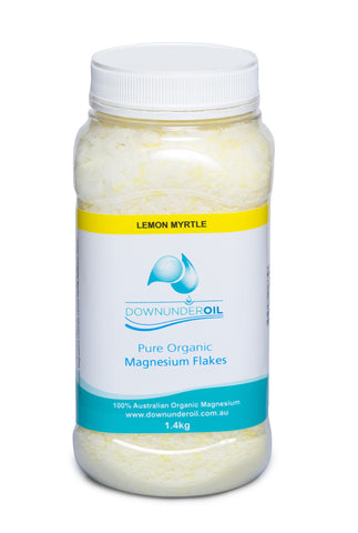 Magnesium Flakes - Lemon Myrtle 1.4kg - Magnesium_Oil, Downunder_Products