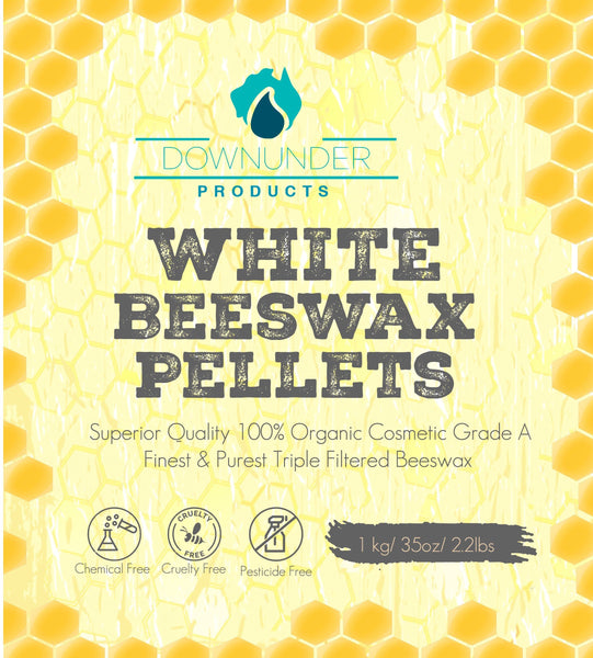 Beeswax Pellets WHITE 1KG - Magnesium_Oil, Downunder_Products