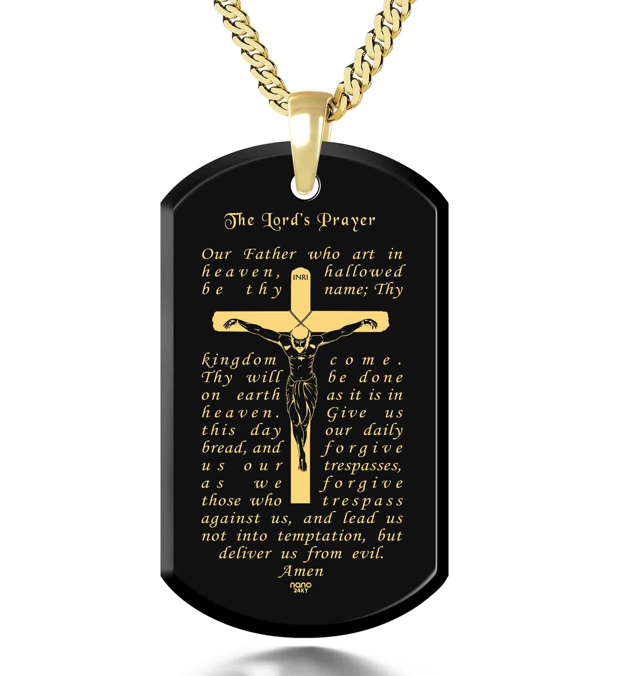 Catholic Necklace for Men - Nano Jewelry