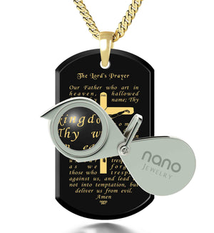 Catholic Necklace Mens - Nano Jewelry