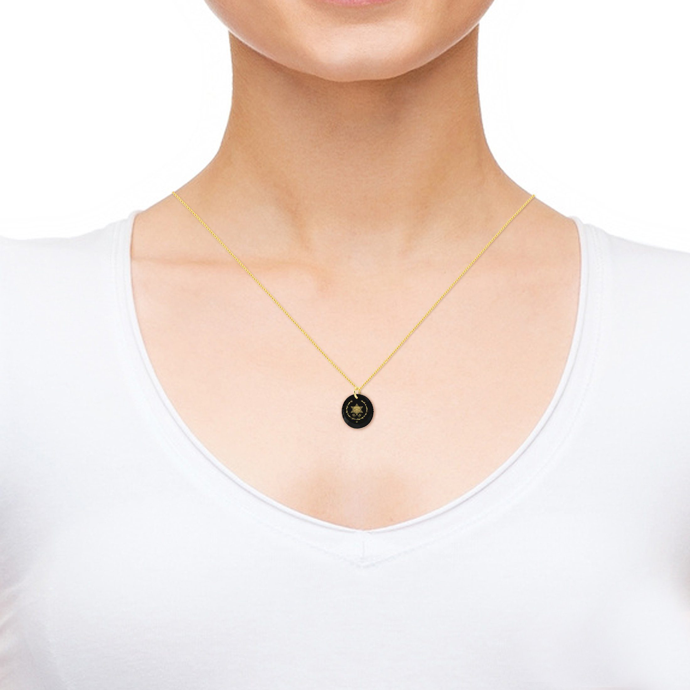 Jewish Necklace for Her, Nano Jewelry