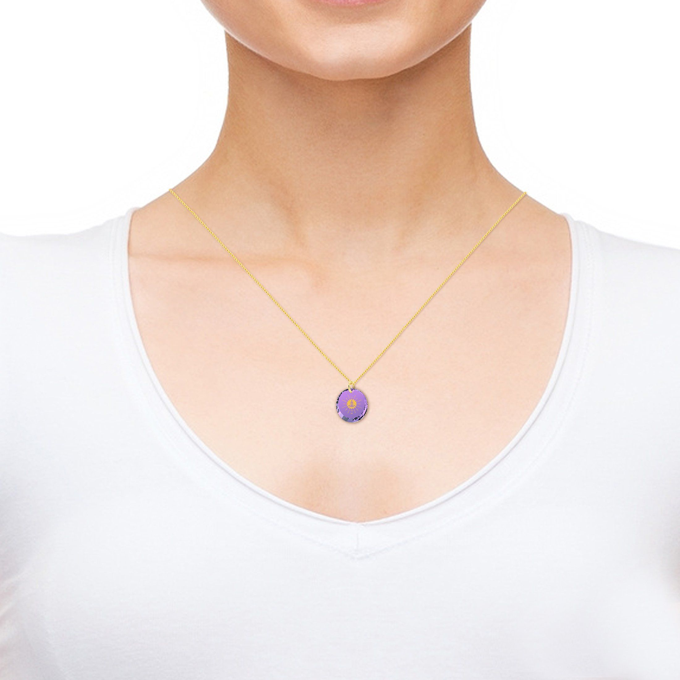 Meditation Necklace for Her, Nano Jewelry