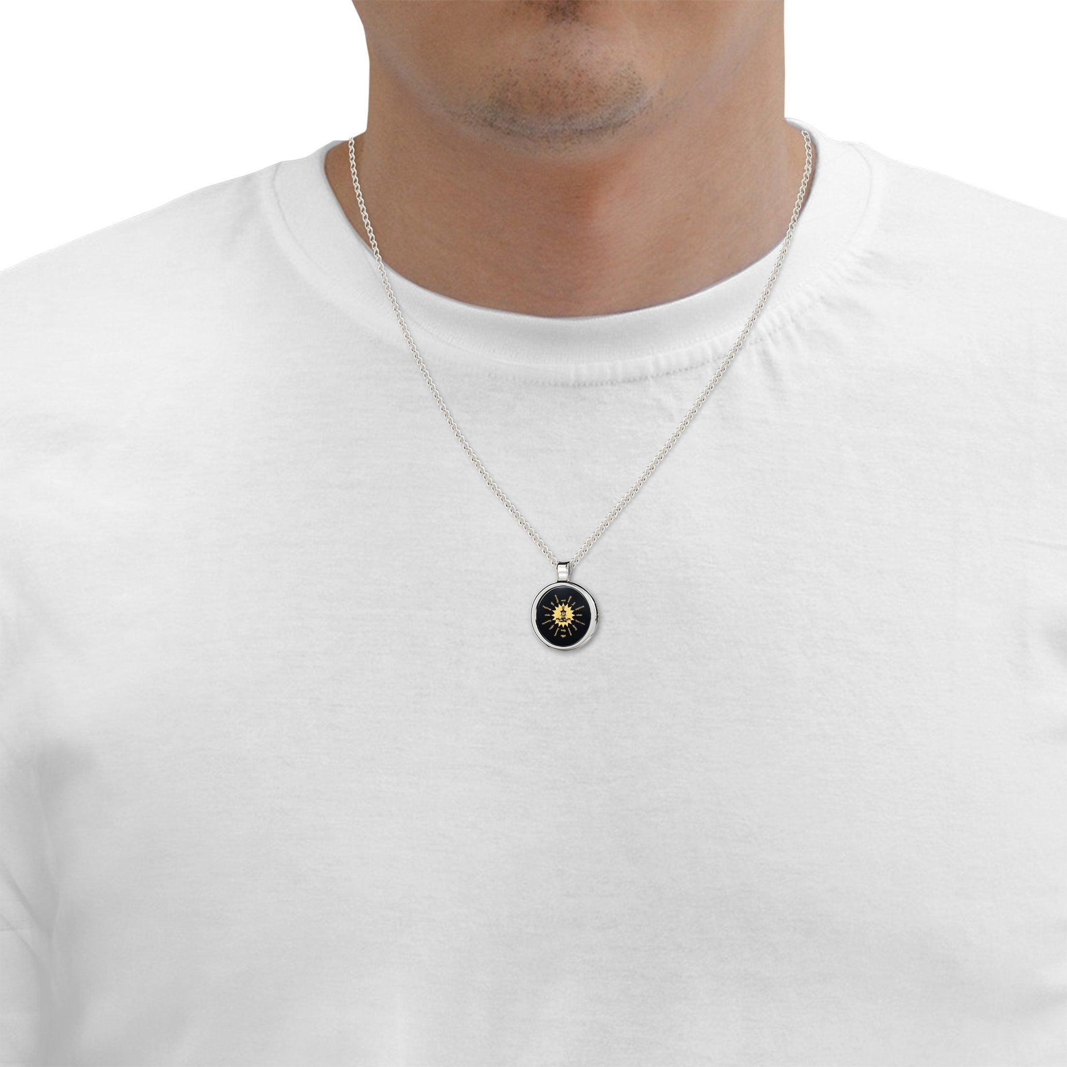 Mens Buddha Necklace, Nano Jewelry
